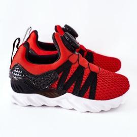 Dječje sportske cipele s ABCKIDS -om Crveni gumb crno crvena 3