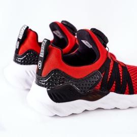Dječje sportske cipele s ABCKIDS -om Crveni gumb crno crvena 4