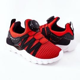 Dječje sportske cipele s ABCKIDS -om Crveni gumb crno crvena 5