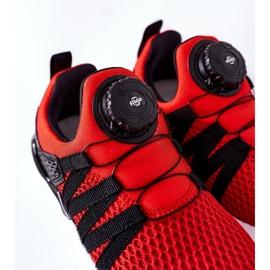Dječje sportske cipele s ABCKIDS -om Crveni gumb crno crvena 7