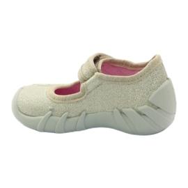 Djevojke papuče luk Befado zlato zlatna 2