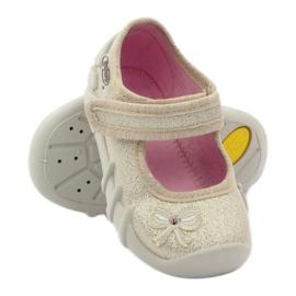 Djevojke papuče luk Befado zlato zlatna 3