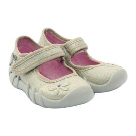 Djevojke papuče luk Befado zlato zlatna 4