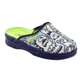 Befado dječje cipele za bojanje papuče bijela mornarsko plava plava 1