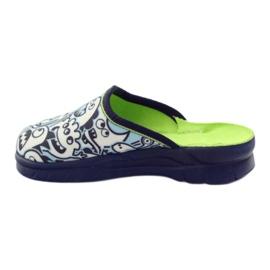 Befado dječje cipele za bojanje papuče bijela mornarsko plava plava 2