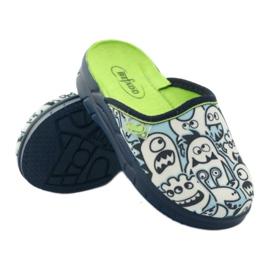 Befado dječje cipele za bojanje papuče bijela mornarsko plava plava 3