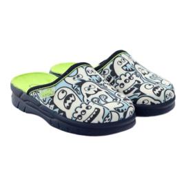 Befado dječje cipele za bojanje papuče bijela mornarsko plava plava 4