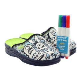 Befado dječje cipele za bojanje papuče bijela mornarsko plava plava 5